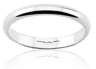 Anillo de Matrimonio, Oro Blanco, 18 quilates 3 gramos, 3 mm ancho,