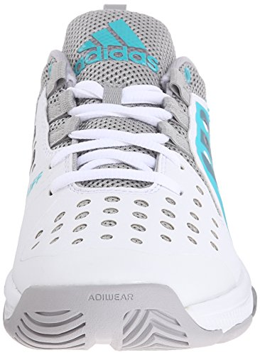 Adidas Performance Women's Barricade Classic Bounce W Training Footwear,White/Night Grey Metallic/Shock Green,8.5 M US
