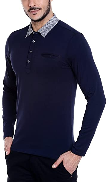 8fecd9d30d0 Dream of Glory Inc. Men s Branded Full Sleeve Cotton Polo Shirts with Geo  Inspired Woven