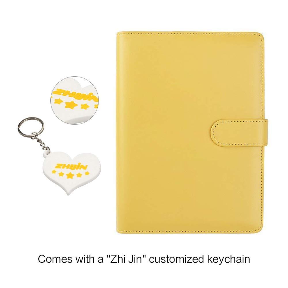 Formato: A5 adatto per quaderni e taccuini Con portapenne Cherry Pink Zhi Jin raccoglitore ricaricabile con inserti