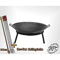 Feuerschale silber Stahl XL ✔ rund