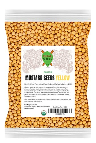 Dualspices Mustard Seeds Yellow 1 ()