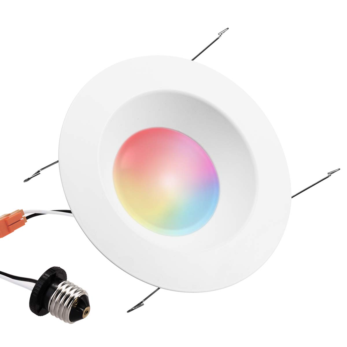 LOHAS LED Downlight, Smart Wi-Fi Light, Multicolored(2000k-9000k), Voice Control, Smartphone Controlled, E26 Base, 6 Inch Retrofit downlights, Dimmable 15W(80 Watt Equivalent) Recessed Lighting