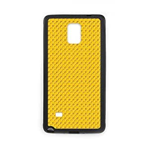 Samsung Galaxy Note 4 Cases Pattern Yellow Dots for Women Protective, Phone Case for Samsung Galaxy Note 4 Phone for Women Protective [Black]