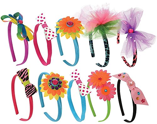 [Kangaroo's Kids Fashion Headbands Kit, 134 Pieces] (Red Indian Princess Costume)