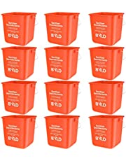 BYLD - Sanitizing Cleaning Bucket - 3 Quart, Red (Pack of 12)