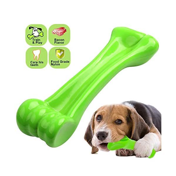 oneisall Durable Dog Chew Toys Bone Chew Toy for Aggressive Chewers- Indestructible Puppy Toys for Large Dogs M
