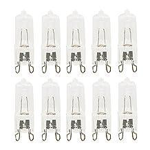 LEDIARY 10 PACK Clear Dimmable G9 Halogen Lamp Light 120V 25/40/50w Halogen G9 Bulb 2700K Warm White