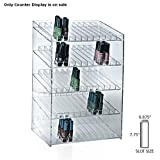 Retail 5-tiered 60 Compartment Cosmetic Counter Display for Pegboard or Slatwall
