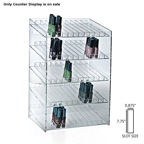 Retail 5-tiered 60 Compartment Cosmetic Counter Display for Pegboard or Slatwall by Cosmetic counter display