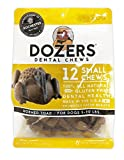 Dozers Horned Toad Dental Dog Chews – 100% All Natural Ingredients – Gluten Free Dental Healthy Delicious Dog Treat – Promotes Fresh Breath (Small, 1 Bag)