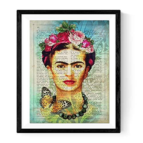 Nacnic Frida Kahlo Poster with Art Definition in
