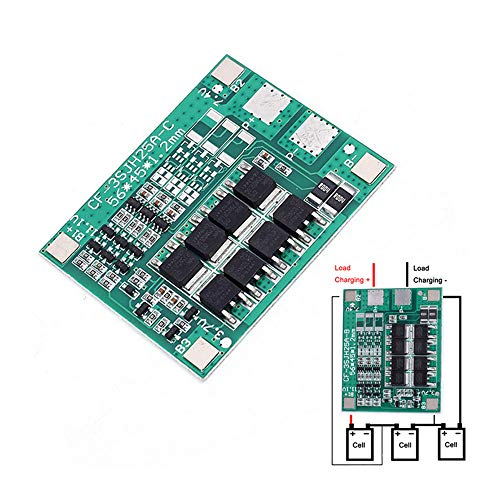30A 3S Polymer Lithium Battery 18650 Charger PCB BMS Protection Board 3 Serial 12V 3.7 Lipo Li-ion Charging Protection ()