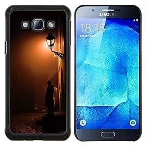 "S-type Lámpara de luz Calle del guijarro"" - Arte & diseño plástico duro Fundas Cover Cubre Hard Case Cover For Samsung Galaxy A8 ( A8000 )"