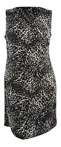 cheetah print knit dress - 9