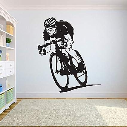 ganlanshu Vinilo Bicicleta estática Etiqueta de la Pared Pegatina ...