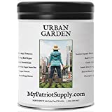 Urban Garden Seed Kit – 12 Easy-to-Grow Varieties 100% Heirloom, Non-GMO Seeds in a Sturdy Storage Can