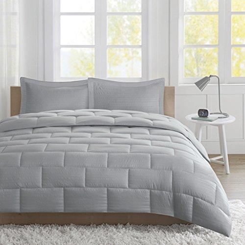 Intelligent Design Avery Seersucker Down Alternative Comforter Mini Set Full/Queen - Comforter Set Dimensions