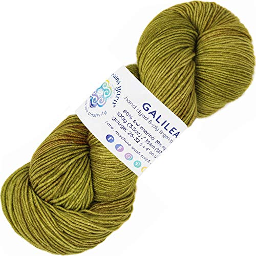 Living Dreams Yarn Galilea. Colorful Superwash Merino Sock Yarn. Super Soft and Strong. Hand Dyed to Perfection: -