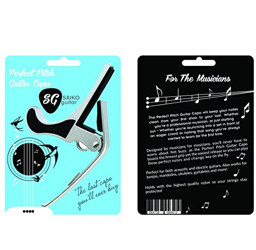 perfect pitch guitar capo for acoustic guitars electric guitars best quick change guitar. Black Bedroom Furniture Sets. Home Design Ideas