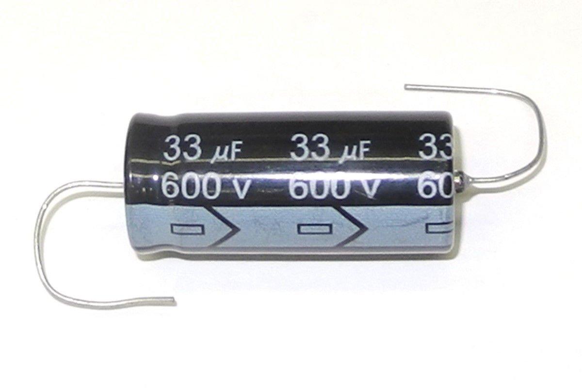 Miec QTY 3 33uf 600 V 105 Cアキシャル電解コンデンサ   B015NH6RS8