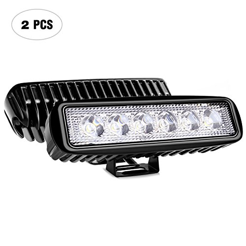Gmc S15 Pickup Truck Headlight - Nilight Led Light Bar 2PCS 18w Spot Driving Fog Light Off Road Lights Boat Lights driving lights Led Work Light SUV Jeep Lamp,2 years Warranty