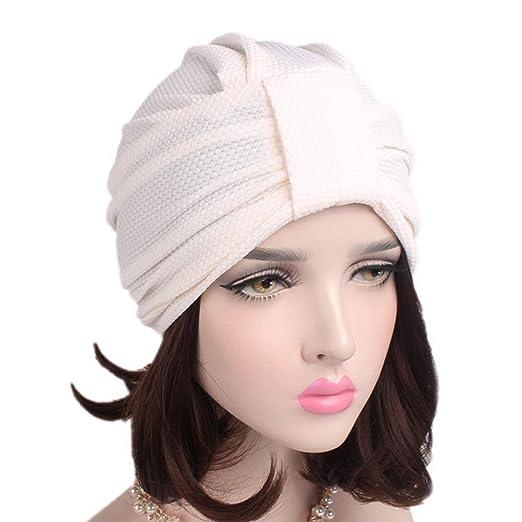 Yesiidor - Gorro de Lana para Mujer, Color Liso, algodón, Beige ...