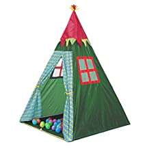 Onway Indian Teepee Tripod Play Tent Indoor Outdoor Kids Playhouse, Green
