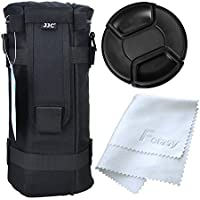 JJC DLP-7 Water Resistant Deluxe Lens Pouch + 95mm Lens Cap + Lens Cleaning Cloth for TAMRON SP 150-600mm F/5-6.3 Di VC USD