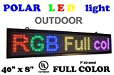 OUTDOOR LED RGB color sign 40'' x 8'' with high resolution P10 and new SMD technology. Perfect solution for advertising