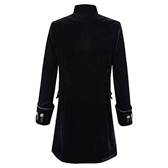 Amazon.com: FUNOC Men Coat Steampunk Vintage Tailcoat Jacket Gothic Victorian Frock Costume: Clothing
