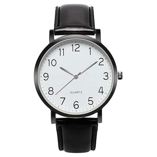Dylung Reloj para Mujer Women Reloj de Pulsera de Dama Elegante Relojes de Mujeres Analógico Cuarzo de Acero Inoxidable Correa de Cuero del Estilo Casual ...