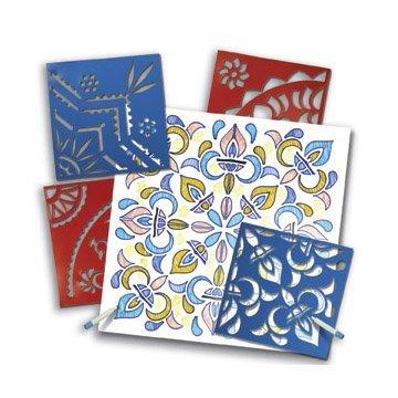 Folk Art Stencils (Roylco 1293911 Classic Rangoli Mega Stencil, 11