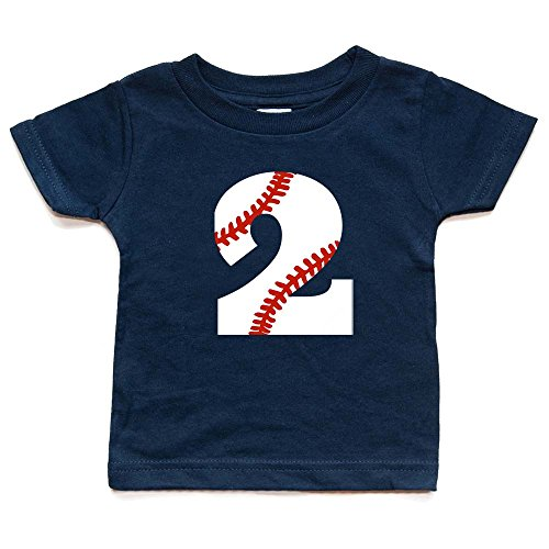 Second Birthday Baseball Shirt Toddler Boy Or Girl 2 Tshirt Kids Sports Party Two Trendy