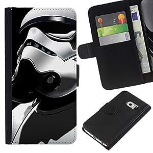 Stuss Case / Funda Carcasa PU de Cuero - Traje Stormtrooper - Samsung Galaxy S6 EDGE