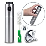 Oil Sprayer for Cooking Olive Vinegar Bottle EMSIN Bbq Air Fryer Making Salad Refillable Essential Oil Non Aerosol Clog Free Pressure Pump Dispenser Stainless Steel Olive Oil Bottle Sprayer