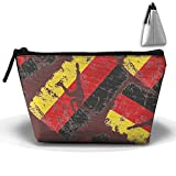 Short Track Speed Skating German Flag Unisex Cosmetic Bags Handbag Wrist Bags Clutch Bags Cell Phone Bags Purses