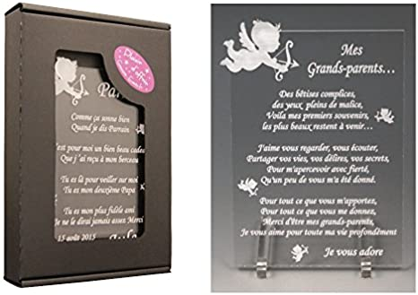 1 Poème Grands Parents Ange Td Cadeau Pour Papy Et Mamy Pour Noël Baptême Anniversaire De Mamie Ou Papi