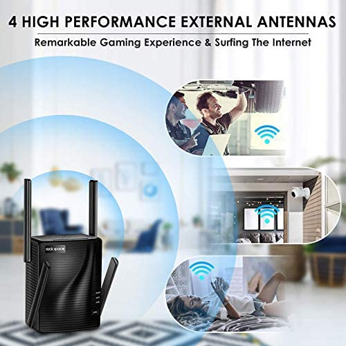 WiFi Range Extender - 2100 Mbps WiFi Extender,5G & 2.4G Dual Band WiFi Booster,WiFi Repeater,Gigabit Port,Coverage as much as 1292sq.toes,Support Multiple Devices,Extends WiFi Range,Access Point for Home