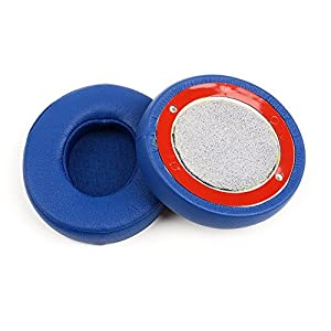 OKCSC Replacement Earpad Ear Pad Cushions Cups Ear Cover for Solo 2 Blue