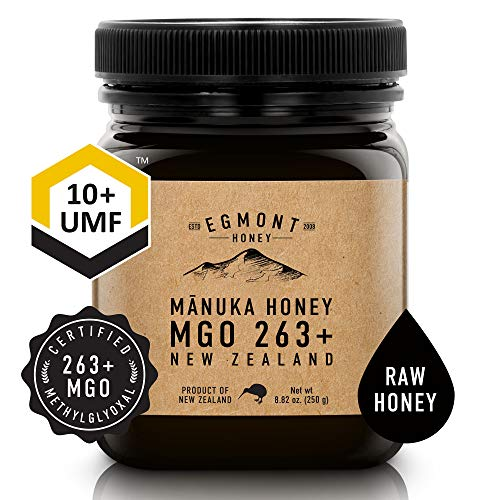 EGMONT HONEY 8.8oz UMF 10+ – 100% Natural Non-GMO Ethically Sourced Superior Flavour Manuka Honey Superfood from Sustainable Bee Hives in the Remote Manuka Forests of New Zealand