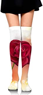 No Soy Como Tu Chaussettes Hautes Women Thigh High Over Knee Rose Long Tube Dress Legging Sport Compression Stocking