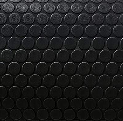"""8' 6"""" Wide Coin Pattern RV Flooring Black- 10 Foot Section"""