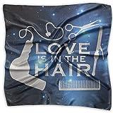 Love Is In The Hair-1 Men Women Silky Scarf Head Wraps Bandana Scarves Set