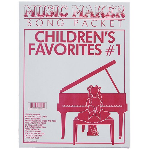 European Expressions Intl Children's Favorite Song Sheets for Lap Harp Music Maker - Music Maker Song Sheets