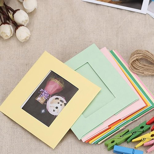 WskLinft Paper Photo Frames, DIY Creative Home Bedroom Wall Hanging Album Photo Frame for 3inch Photo Picture