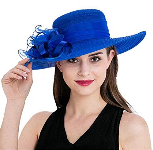 bb808641 BellyAnna Boutique Church Summer Wide Brim Kentucky Derby Tea Party Wedding  Hats - Buy Online in KSA. Apparel products in Saudi Arabia.