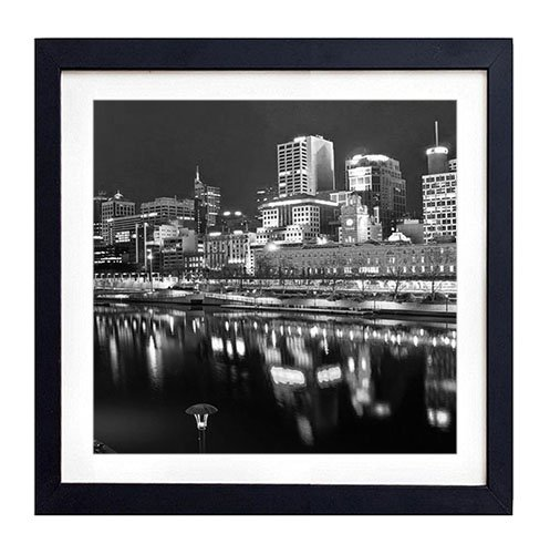 Melbourne, Australia - Art Print Black Wood Framed Wall Art Picture For Home Decoration - Black and White 18