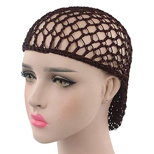 Hot Sale! Hongxin Mesh Cap for Hair Woman Night Sleeping Hand Crocheted Drooping Hair Care Long Mesh Sleeping Cap Creative Gift Clearance (Coffee)