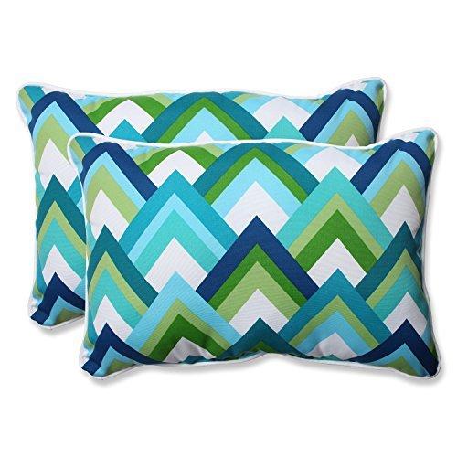 Pillow Perfect Outdoor Resort Peacock Over-Sized Rectangular Throw Pillow, Blue, Set of 2 [並行輸入品] B07RCF263Z